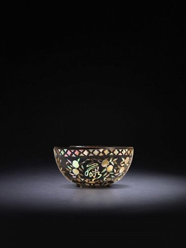 Lacquer Bowl with Mother-of-Pearl Inlay