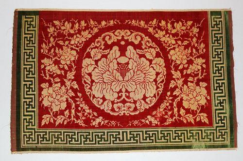 Qing Dynasty Silk Velvet Table Frontal