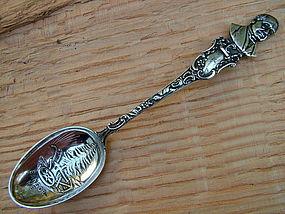 Bangor, Maine Hannibal Hamlin souvenir spoon