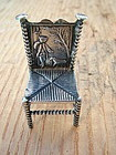 Dutch miniature silver chair, H. Hooijkaas,