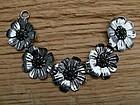 Taylord stone-set floral sterling bracelet,