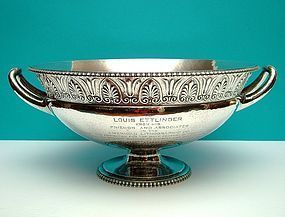 sterling presentation punch bowl, Marcus & Company