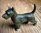 bronze of a Scottie dog
