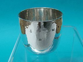 Old Newbury Crafters hand wrought sterling tumbler
