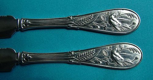 two Tiffany JAPANESE fruit knives