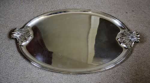 French silver tea tray, .950 standard,