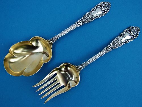 D & H RENAISSANCE salad set (pierced Bigelow Kennard version)