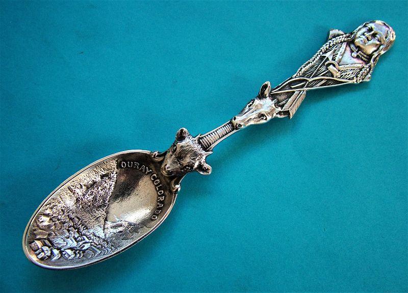 Gorham Ouray, Colorado souvenir spoon