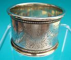 charmingly engraved Victorian era napkin ring