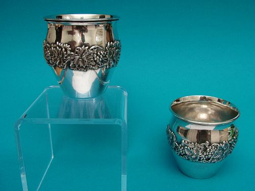 A fine pair of early American silver raised beakers, Philadelphia