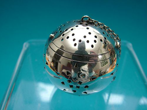 Watrous sterling tea ball number 16