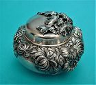 Shiebler CHRYSANTHEMUM tea caddy 2286