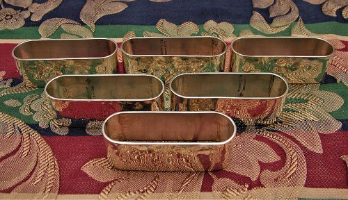Old Newbury Crafters sterling napkin rings, set of six