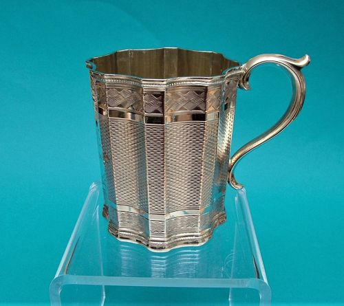 Albert Coles coin silver christening cup