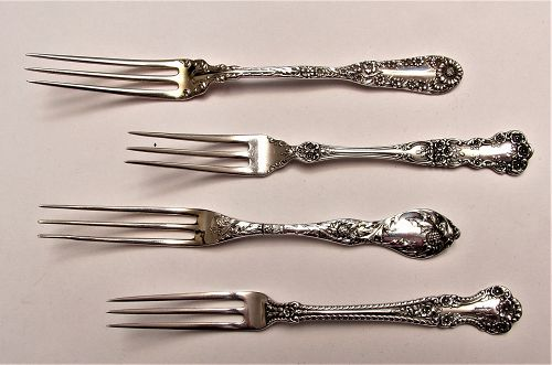 Gorham BUTTERCUP strawberry fork and three more