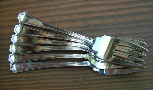 6 Durgin FAIRFAX salad forks