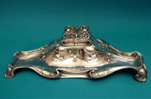 Gorham Art Nouveau sterling ink stand number B2342