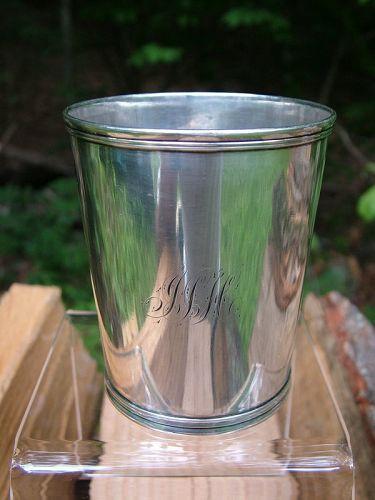 Kentucky coin silver julep cup, Henry Hudson, Louisville ca. 1850