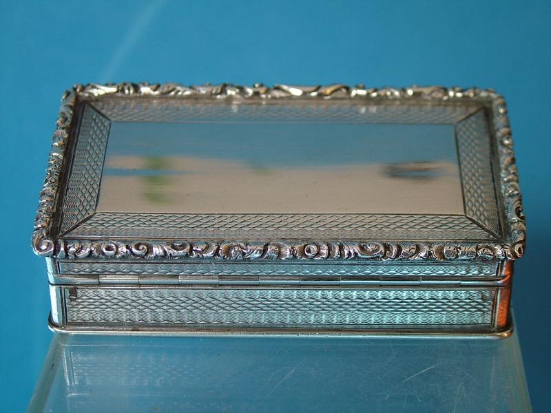 a good Victorian snuff box, Francis Clark, Birmingham