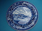 Wedgwood UNION STATION (DC) blue transfer plate