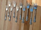 ten D & H CHARLES II fish forks
