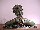 "Chiparus Bronze, ""Young Pipes Player"""