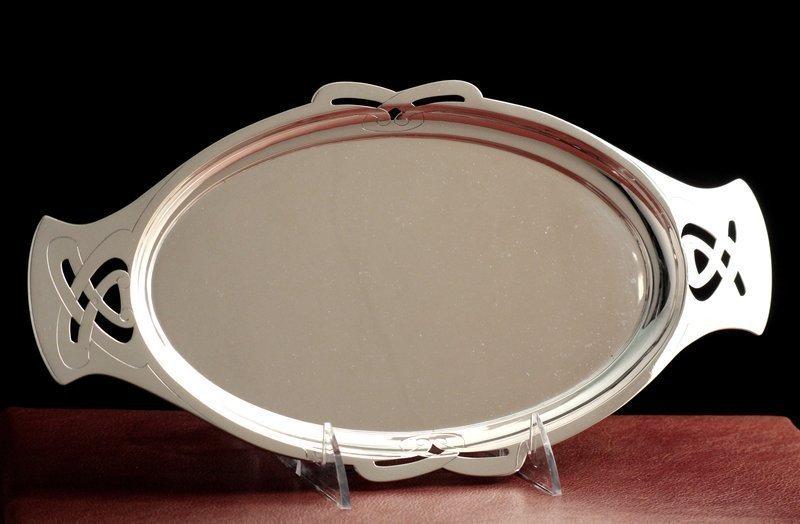 Wilhelm Binder Art Nouveau Silver Tray