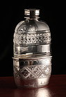 Fine Victorian Crystal Whisky Flask