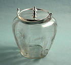 Mappin & Webb Cut Crystal Biscuit Barrel