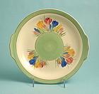 Clarice Cliff Spring Crocus Cake Plate
