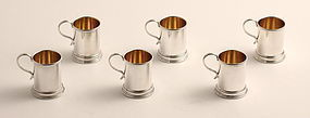 Set of Silver Tankard Cocktail Jiggers