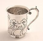 English Art Nouveau Silver Cup