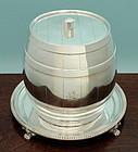 Victorian Barrel Form Biscuit Barrel