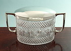 Antique Cut Crystal Biscuit Box