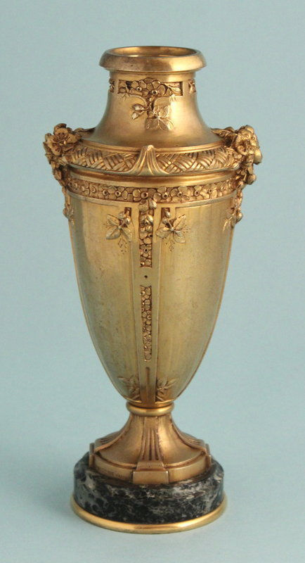 Gilded Bronze and Marble Urn