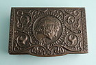 Art Nouveau Patinated Brass Box
