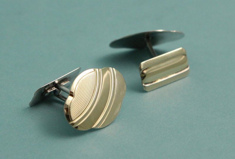 Silver Gilt Norwegian Cufflinks