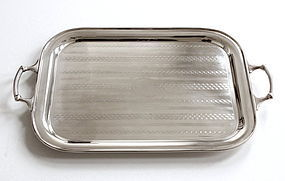 English Engine Turned Tray