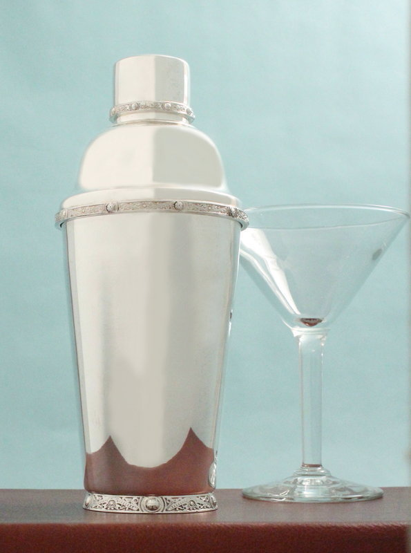 Celtic Cross Cocktail Shaker Mixer With Built In Strainer Celtic Gift 67