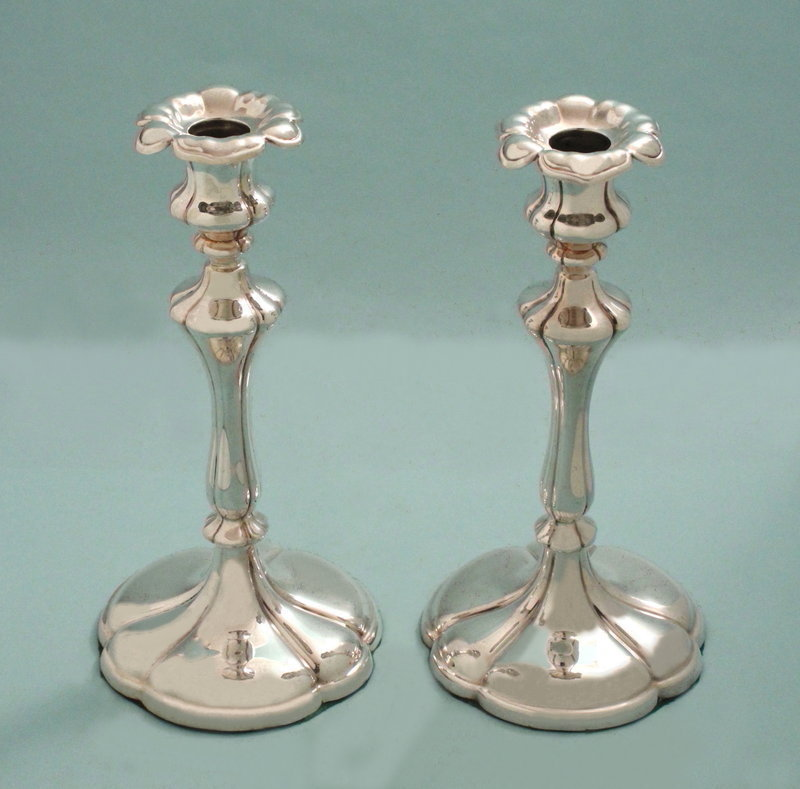English Victorian Candlesticks