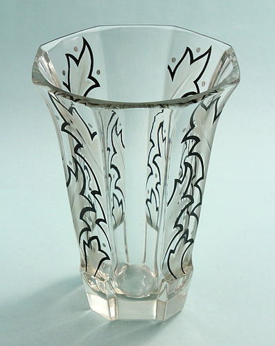 Art Deco Enamelled Vase