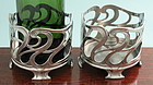 Pair WMF Art Nouveau Bottle Stands