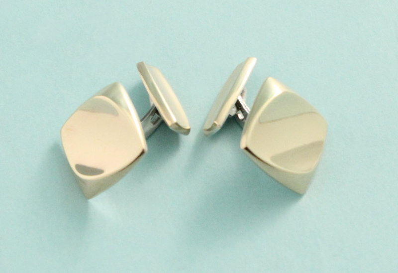 Modernist Silver-Gilt Cufflinks