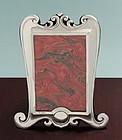 English Art Nouveau Silver Photo Frame