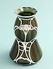 Loetz Metallin Silver Overlay Vase