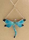 John Atkins Enamel Dragonfly Pendant