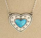 Charles Horner Enamel Heart Pendant
