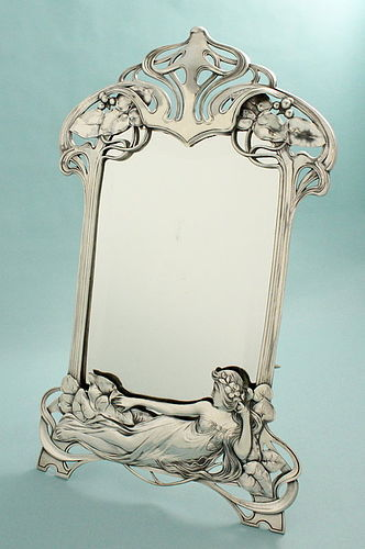 WMF Art Nouveau Maiden Mirror