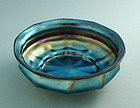 L.C. Tiffany Favrile Blue Glass Bowl