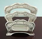 Gorham Silver Art Nouveau Letter Rack